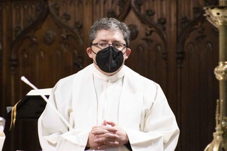 Santiago Vega, delegado de Pastoral Familiar en la vigilia por la Sagrada Familia.