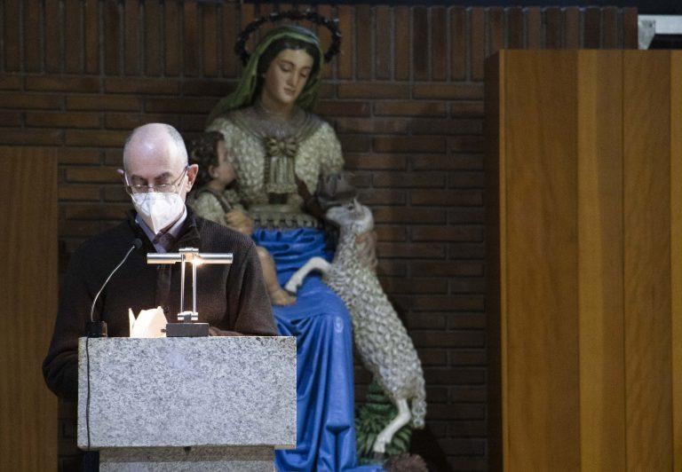 Davide Junquera, pástor evangélico en el acto ecuménico del pasado jueves.
