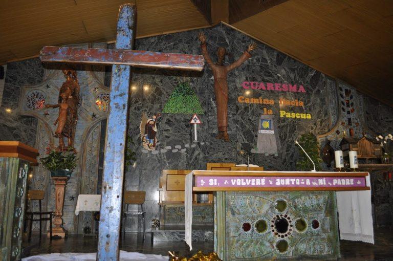 La cruz de Lampedusa en los actos organizados con motivo de la Jornada por la Vida.